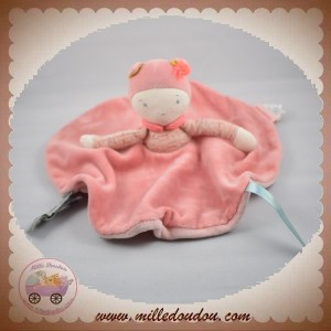 MOULIN ROTY SOS DOUDOU POUPEE FILLE PLAT ROND ROSE MADEMOISELLE RIBAMBELLE