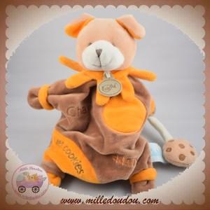 BABYNAT BABY NAT SOS DOUDOU CHIEN CHARLY MARIONNETTE MARRON ORANGE COOKIES