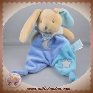 BABYNAT BABY NAT SOS DOUDOU LAPIN PLAT BLEU FLUORESCENT ETOILE LUNE