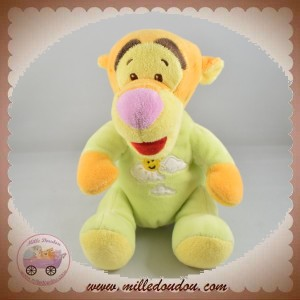 DISNEY SOS DOUDOU TIGROU ORANGE CORPS VERT NUAGES SOLEIL