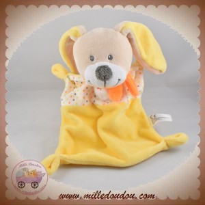 NICOTOY SOS DOUDOU LAPIN PLAT RECTANGLE JAUNE ETOILE POINT