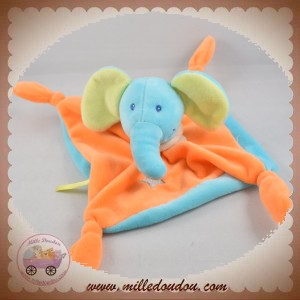 SUPER U SOS DOUDOU ELEPHANT PLAT ORANGE BLEU ETOILE