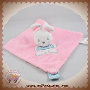 CARTOON CLUB SOS DOUDOU LAPIN PLAT ROSE ATTACHE TETINE BLEU