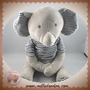 OKAIDI OBAIBI SOS DOUDOU ELEPHANT GRIS PULL RAYE NOIR