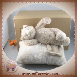 MOULIN ROTY SOS DOUDOU OURS BASILE ET LOLA COUSSIN MUSICAL