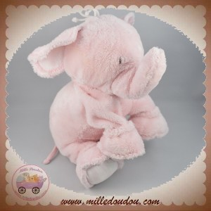 TARTINE ET CHOCOLAT SOS DOUDOU ELEPHANT ROSE 23 cm
