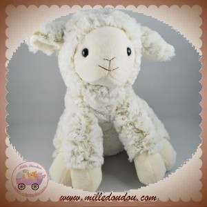 ANIMA SOS DOUDOU MOUTON BLANC REFLET MARRON CHINE ANIMADOO