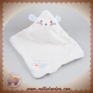 SOS DOUDOU MOUCHOIR LAPIN PLAT BLANC MADE WITH