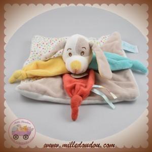 BABYNAT BABY NAT SOS DOUDOU CHIEN PLAT DIABLOTIN TAUPE COLERETTE VERT ROUGE
