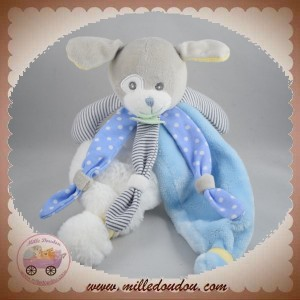 BABYNAT BABY NAT SOS DOUDOU CHIEN PLAT POIL BLANC BLEU POUPI BN0194