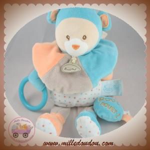 BABYNAT BABY NAT SOS DOUDOU OURS BLEU ORANGE ETOILE POUET POUET CAPUCIN