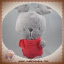 ORCHESTRA SOS DOUDOU RENNE GRIS PULL ROUGE