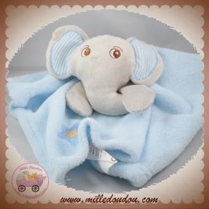 TOMKIDS SOS DOUDOU ELEPHANT GRIS PLAT BLEU TOM & KIDDY