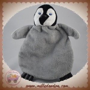 SOS DOUDOU PINGOUIN PLAT GRIS PIED NOIR