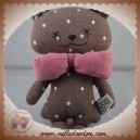 BIRTH BOX OURS SOS DOUDOU OURS MARRON NOEUD ROSE