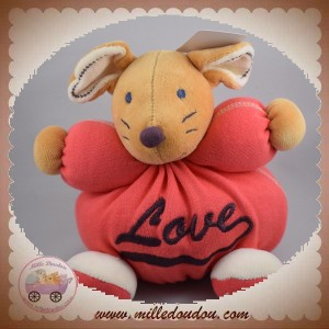 KALOO SOS DOUDOU SOURIS LOVE BOULE ROUGE SWEET LIFE