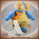 BABYNAT BABY NAT SOS DOUDOU OURS CORPS JAUNE ORANGE PAPILLON MOUCHOIR
