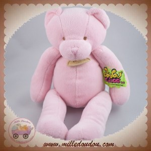 DOUDOU ET COMPAGNIE SOS OURS ROSE TATOO