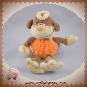 BENGY SOS DOUDOU SINGE ROI MARRON ORANGE