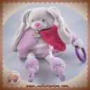 BABYNAT BABY NAT SOS DOUDOU LAPIN DIABLOTINE ROSE POUET POUET