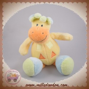 NATTOU SOS DOUDOU GIRAFE MUSICAL JAUNE ORANGE BLEU SAFARI