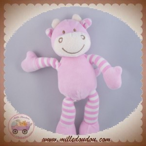SOFT FRIENDS SOS DOUDOU GIRAFE VACHE ROSE JAMBES RAYEES
