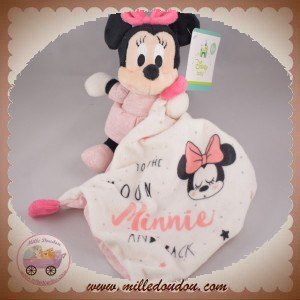 DISNEY NICOTOY SOS DOUDOU MINNIE ROBE ROSE MOUCHOIR MOON