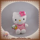 SANRIO JEMINI SOS DOUDOU CHAT HELLO KITTY SALOPETTE ROSE FLEURS