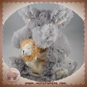 HISTOIRE D'OURS SOS DOUDOU ARMAND ELEPHANT POIL MARIONNETTE GRIS BEBE SIMON LION HO2368