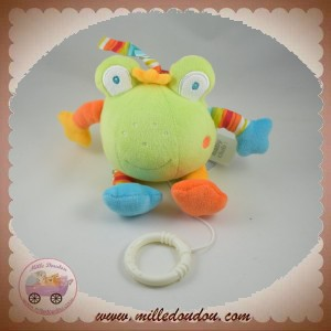 BABY CLUB SOS DOUDOU GRENOUILLE VERTE MUSICAL ORANGE