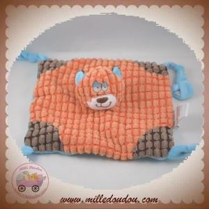 FUNKY SOS DOUDOU OURS PLAT CARRE ORANGE