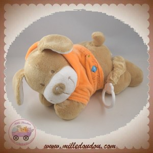 NICOTOY SOS DOUDOU CHIEN MUSICAL ALLONGE SWEAT ORANGE