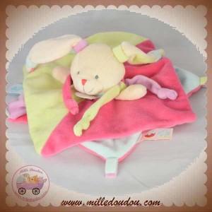 BABYNAT BABY NAT SOS DOUDOU LAPIN PLAT ROSE VERT GOURMANDISE