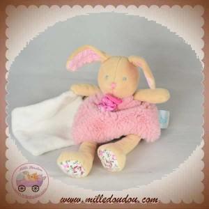 BABYNAT BABY NAT SOS DOUDOU LAPIN POUPI ROSE FLEURS MOUCHOIR BN0110