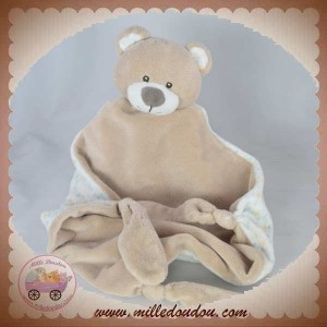 SOS DOUDOU OURS PLAT BEIGE NOEUD EXTREMITES