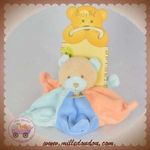 BABYNAT BABY NAT SOS DOUDOU OURS PLAT ETOILE BLEU ORANGE