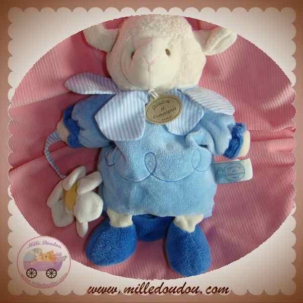 doudou et compagnie mouton agneau gaston marionnette bleu. Black Bedroom Furniture Sets. Home Design Ideas