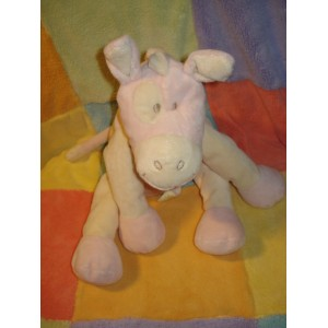 ANIMAL ALLEY SOS DOUDOU PELUCHE CHEVAL ROSE ECRU