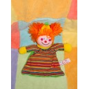 TIAMO TI AMO DOUDOU CLOWN PLAT HOCHET ORANGE VERT RAYE