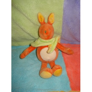 MOULIN ROTY DOUDOU RENARD ORANGE CAPE FEUILLE VERTE