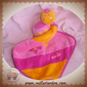 BABYSUN DOUDOU COCCINELLE HOCHET ROSE ORANGE MOUCHOIR BABY SUN