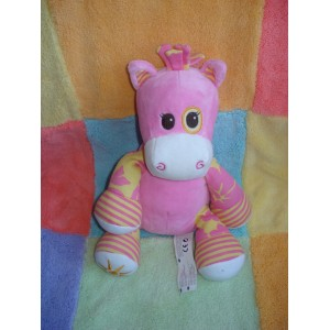 ANIMAL ALLEY SOS DOUDOU GIRAFE ROSE ET JAUNE SOLEIL
