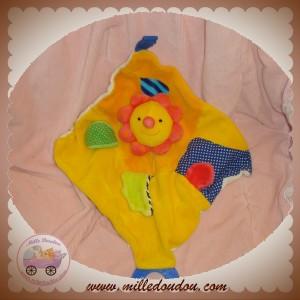 BABYSUN DOUDOU FLEUR PLATE ORANGE BABY SUN SOS