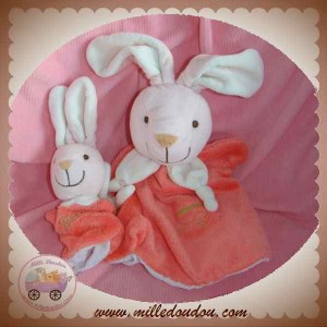 PLAYKIDS BY CMI SOS DOUDOU LAPIN MARIONNETTE BEBE ROSE BLANC
