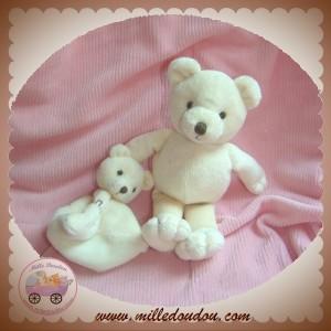 BABYNAT BABY NAT SOS DOUDOU OURS ECRU + BEBE PLAT NATURE