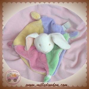 BABYNAT BABY NAT SOS DOUDOU LAPIN BLANC PLAT VERT ROSE LES BONBONS