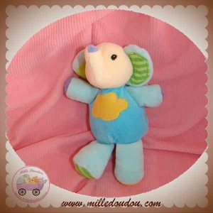 BABYSUN SOS DOUDOU ELEPHANT BLEU NUAGE JAUNE BABY SUN