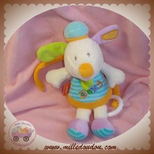 BABYSUN BABY SUN DOUDOU CHIEN SOURIS ECRU AHOY ROSE ORANGE MUSICAL