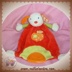 BABYSUN BABY SUN SOS DOUDOU LAPIN ECRU PLAT ROUGE POMME DENTITION