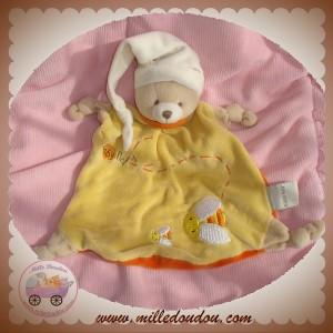 BABYNAT BABY NAT DOUDOU OURS PLAT JAUNE MIEL JULES SOS